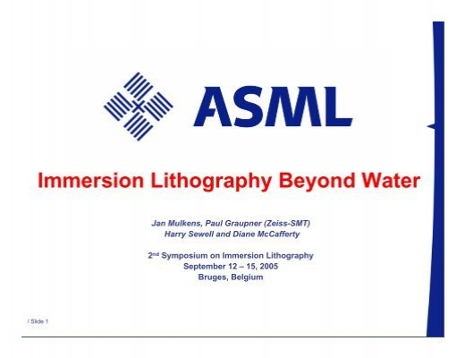 Global Immersion Lithography Market